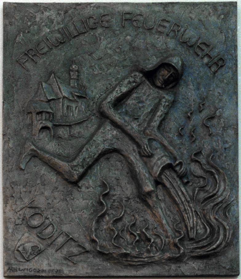Bronzerelief St. Florian Köditz