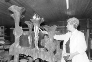 Abstrakter Bronzebrunnen in Werl